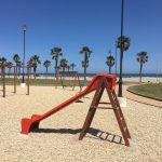 Children's play area along the promenade.