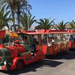 The tourist fun train that runs through the resort - Train stop is opposite Hotel Playa Linda.